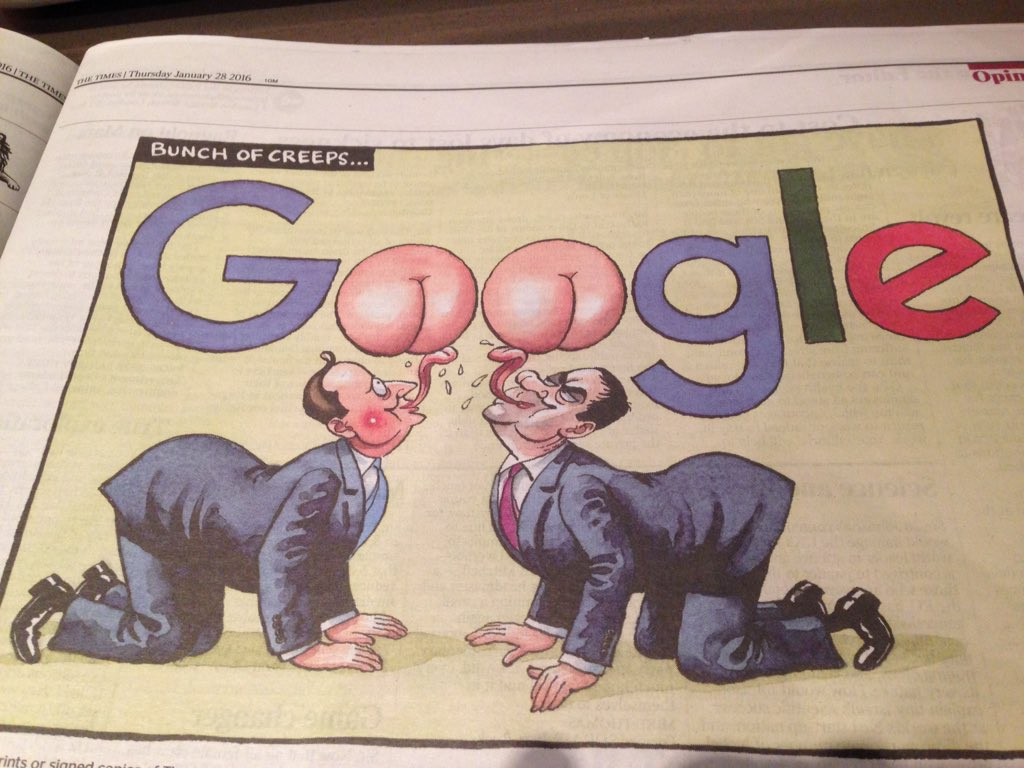 Brilliant Google cartoon in @thetimes today by @BrookesTimes https://t.co/8HROR4VQV9