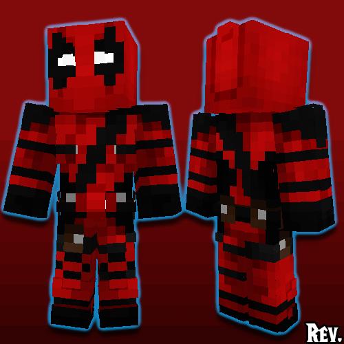 Deadpool Minecraft Skin - Deadpool skins fur minecraft