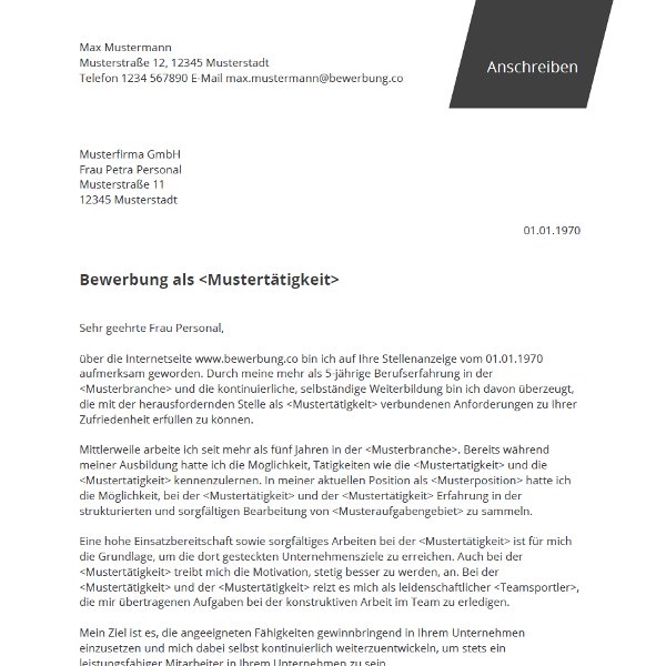 bewerbungco followed - Vodafone Bewerbung