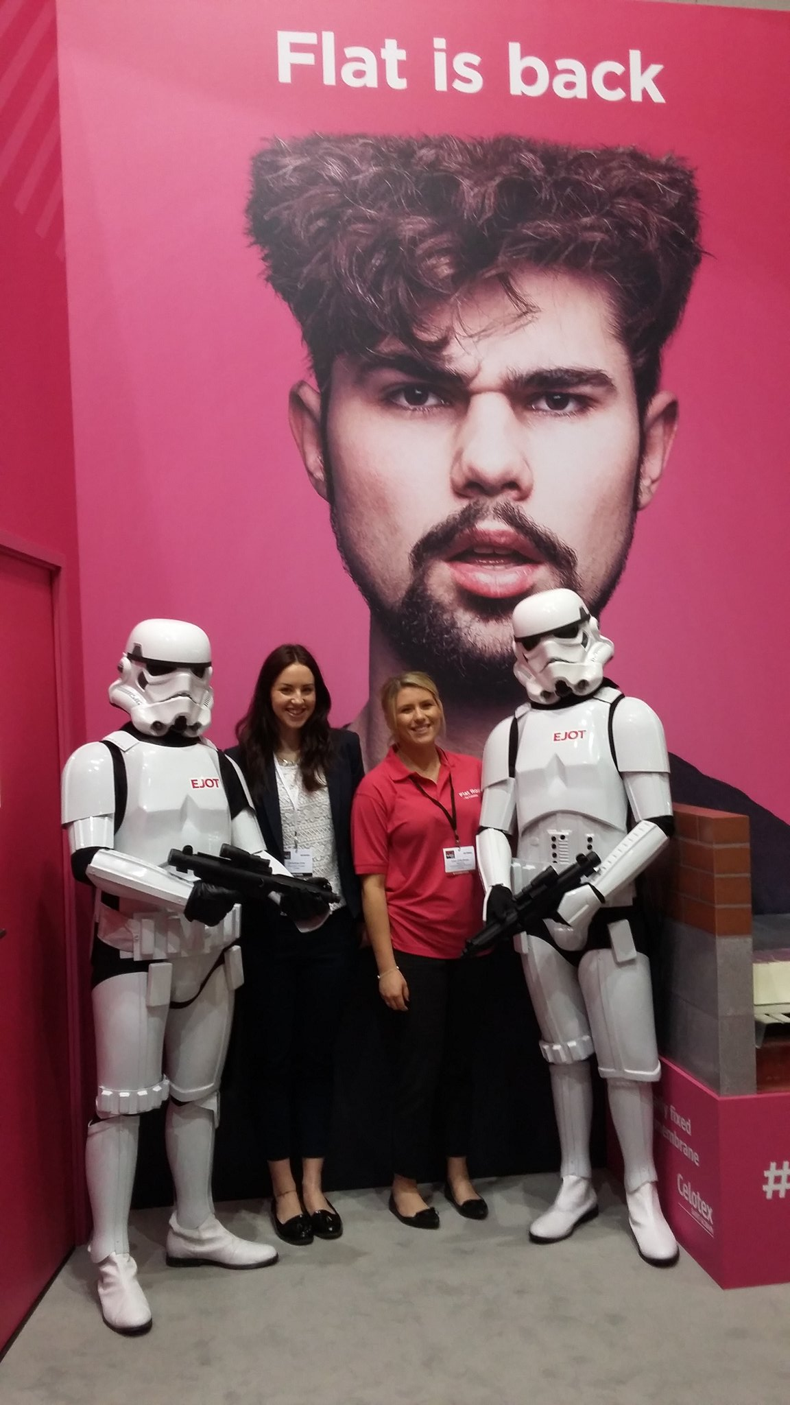 @Lisa_Celotex and Christina with the storm troopers #flatisback https://t.co/kMP6Mbuto4