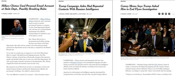 The same NYT journalist broke these 3 stories. A free & fair press. And important journalism.  (h/t  / )@BraddJaffy@jdawsey1