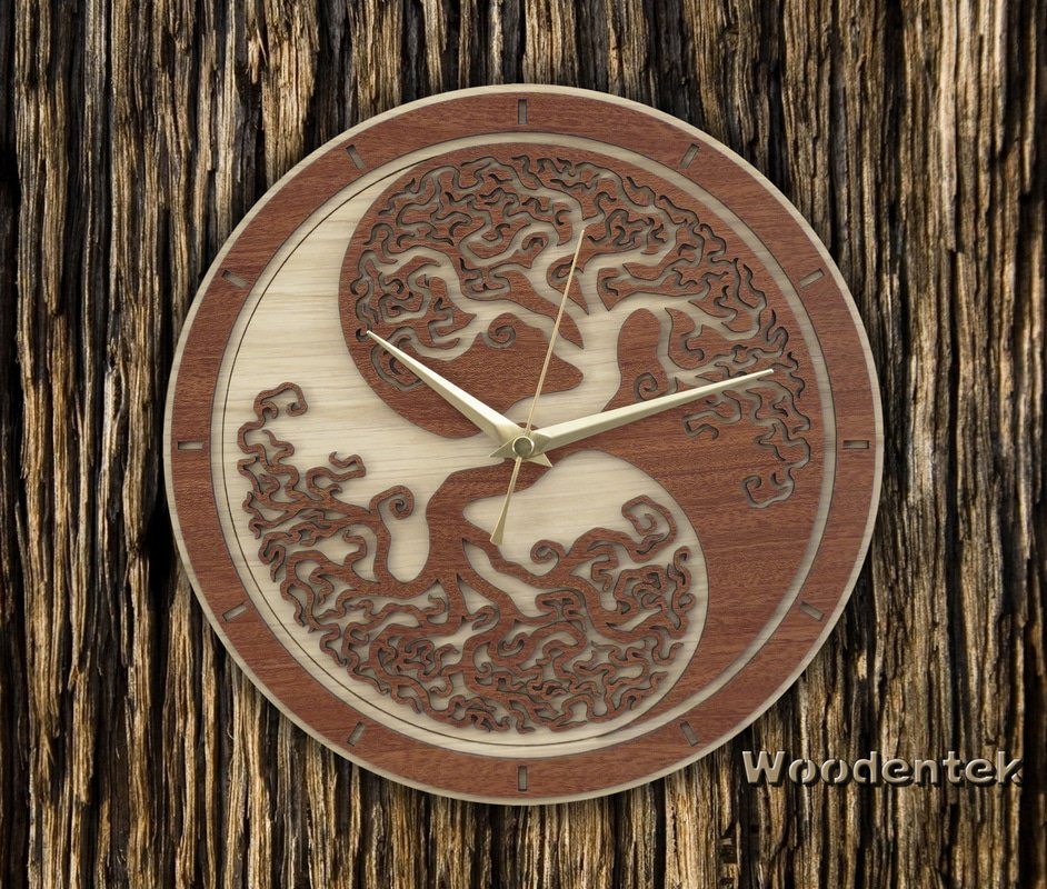 Handmade #YinYang #TreeofLife clock in wood #Dharma #GatheringOfMinds #GiftsIdeas -  https://www. amazon.com/dp/B01NA88E1X  &nbsp;   -  https://www. etsy.com/listing/475777 373/yin-yang-tree-of-life-wood-clock-limited?ref=shop_home_active_7 &nbsp; … <br>http://pic.twitter.com/KicSMysN1f