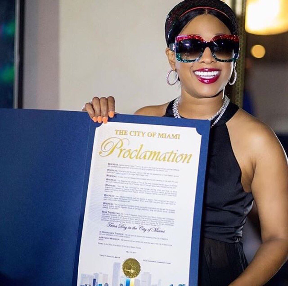 """Congrats to my girl @trinarockstarr May 15th Officially Proclaimed """"TRINA Day"""" in the City of Miami"""