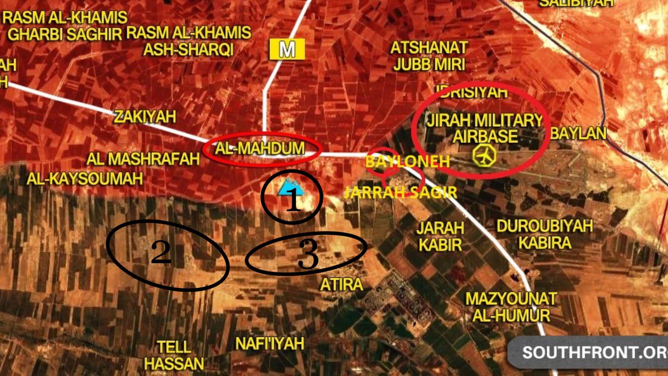 The regime forces reach to the nearest area to Al-Bukamal ...