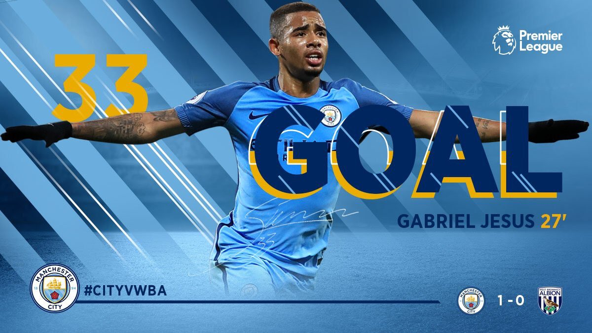 And then...  goals #GabrielJesus in #Premier <br>http://pic.twitter.com/N0LX2JIrZR