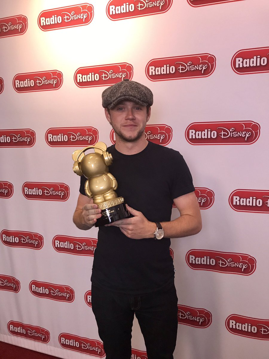 Just been @radiodisney and finally got my award . Thank you guys again and thank you to Phil and the guys at radio disney