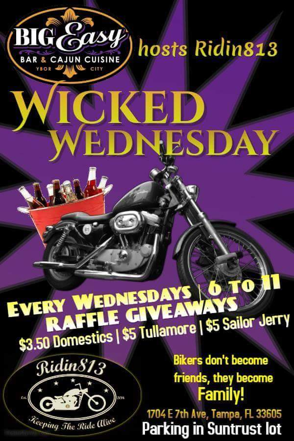 Wicked Wednesday Tampa FL bike night motorcycle event
