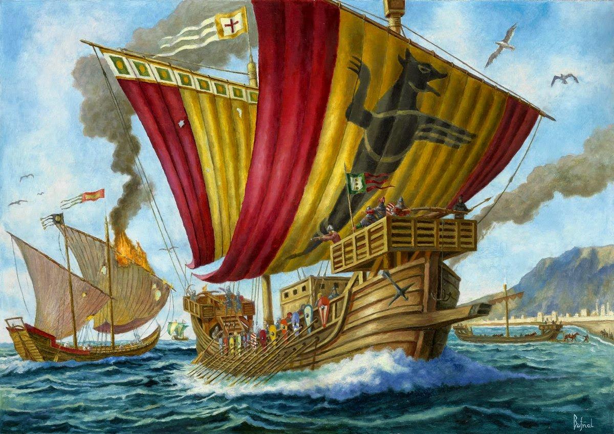 корабли средневековья в картинках пожалуй