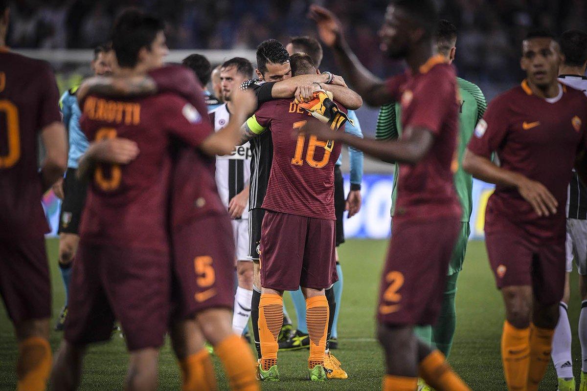 ROMA JUVENTUS risultato 3-1: De Rossi, El Shaarawy e Nainggolan, rinviano la Festa Scudetto della Juve