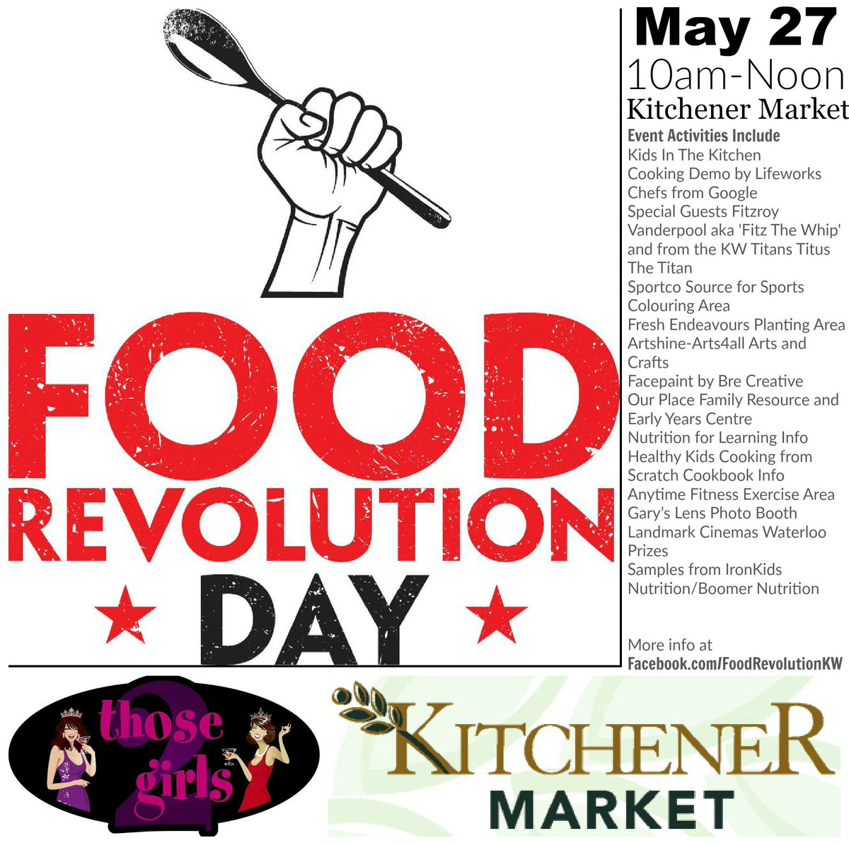 #FoodRevKW Day  @CityKitchener #KitchenerMarket SatMay 27@ 10am #FREE #kwawesome #wrawesome https://t.co/fpvI6zNeMs https://t.co/BOCp2XCpqU