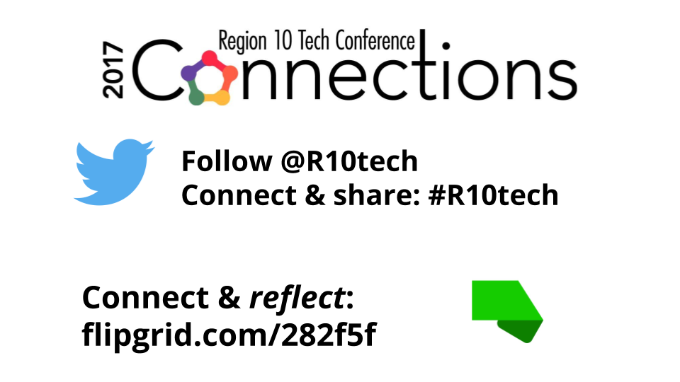 How are you connecting, sharing, and reflecting? That's what today is all about, so join (or continue) the conversations! #R10tech https://t.co/IXHtCZOy8f
