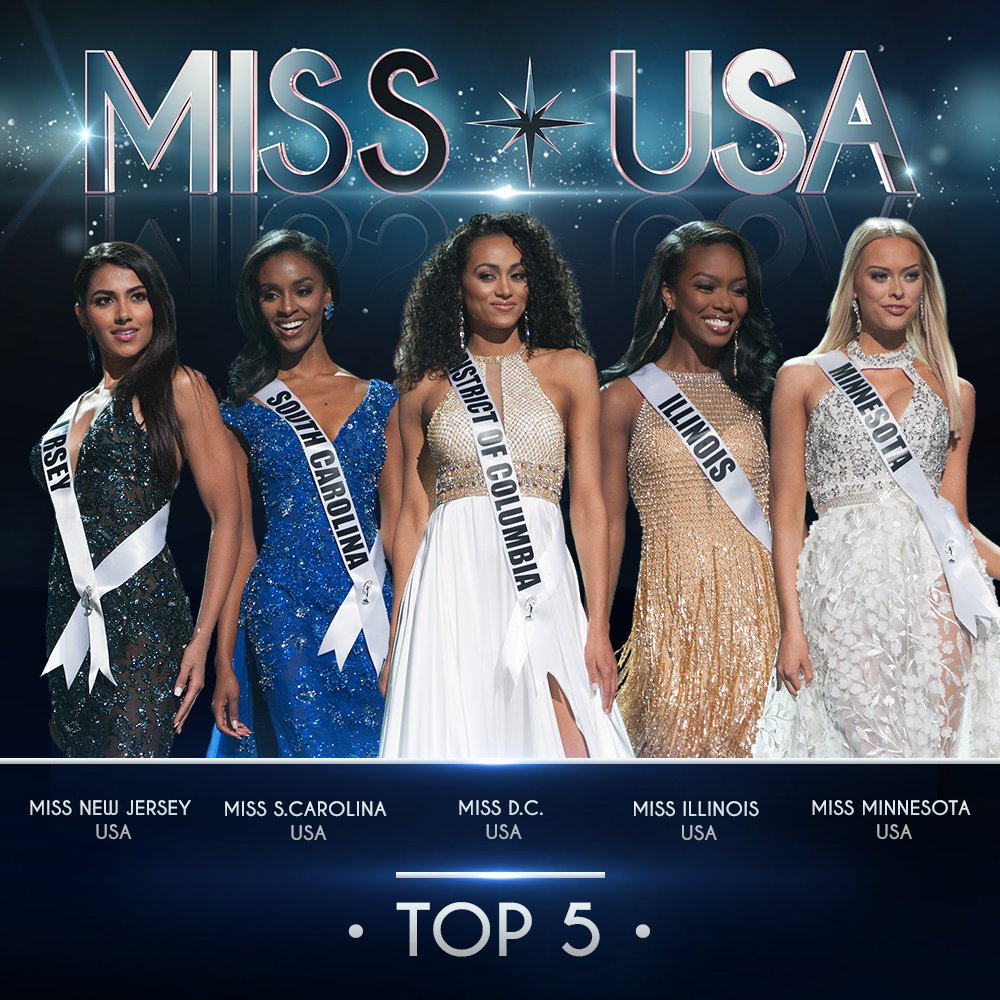 "Miss USA On Twitter: ""USA: This Is Your Top 5. Remember"
