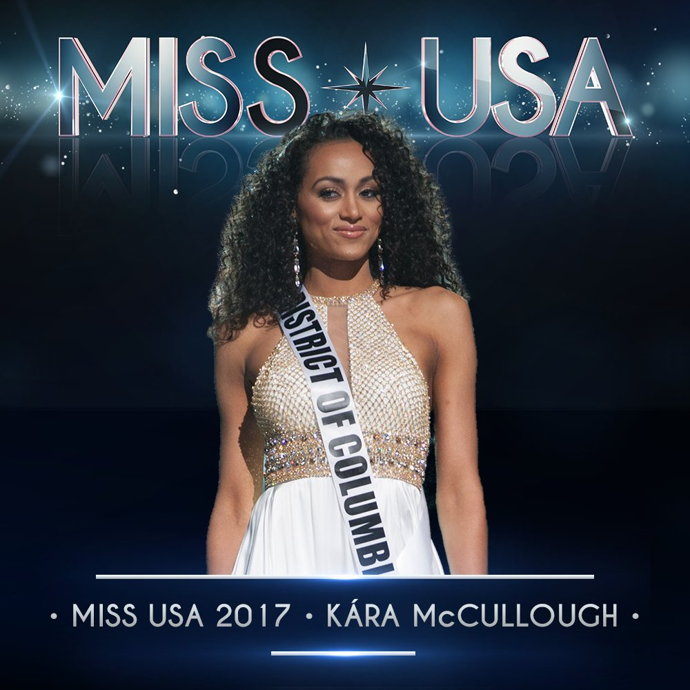 And your 2017 #MissUSA is…   Miss District of Columbia, Kara McCullough! https://t.co/7LxXPBPfeu