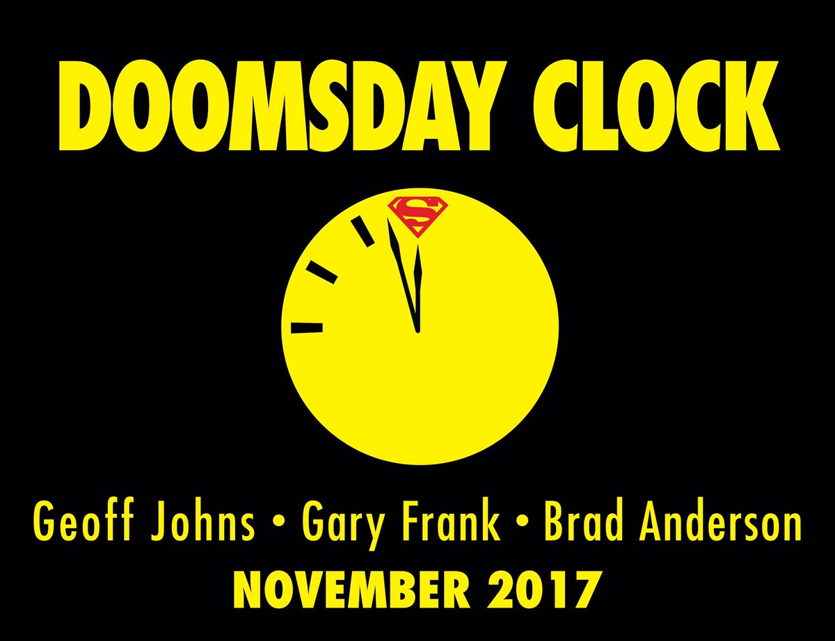 Everything I have done in comics has led to #DoomsdayClock @1moreGaryFrank @DCComics https://t.co/YEoYmG86Uk https://t.co/i5CLpjW2jx