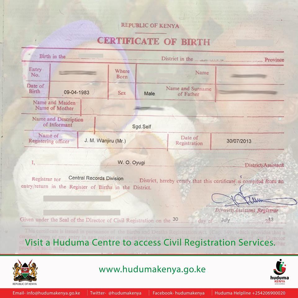 Huduma Kenya On Twitter Embucounty Residents Can Apply For Birth