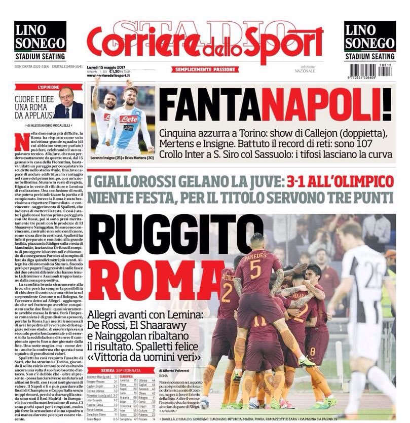 #CdS:  -&gt; [Mr.] #Allegri goes ahead with #Lemina  -&gt; #DDR, #SES &amp; #Nainggolan turn it around  -&gt; #Spalletti happy: &quot;Won as real men.&quot;  #Juve<br>http://pic.twitter.com/18lABpTKFf
