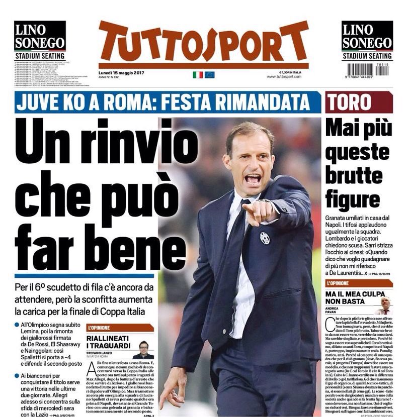 #TS  -At #Olimpico, #Lemina scores quickly, then #Roma comeback w/t #DDR/#SES/#Nainggolan  -#Spalletti takes himself to -4 &amp; keeps 2nd place<br>http://pic.twitter.com/ckAG8K3h7Y