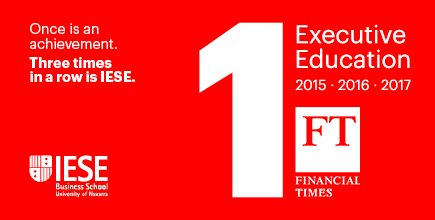 We've done it again (and again)! No. 1 in world for Executive Education by @FT https://t.co/GIwnkytD12 #proudofIESE https://t.co/zDNDw6hLI4