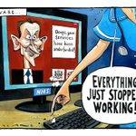 My cartoon in today's @thetimes #nhscyberattack #JeremyHunt
