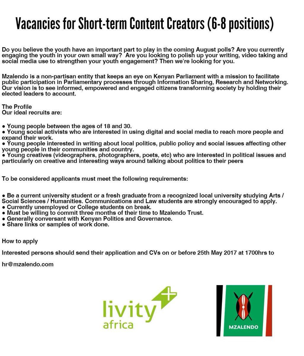 We're hiring: vacancies for short-term content creators. See poster for details https://t.co/0mZXOcb6Gu