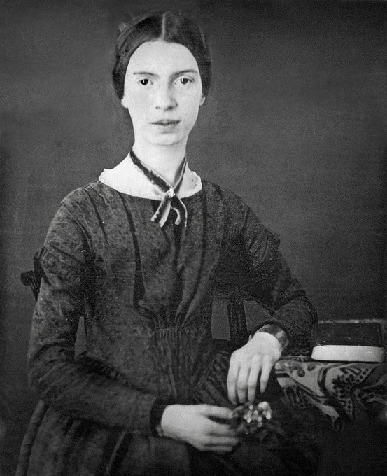 Emily Dickinson was a recluse and talked to visitors through doors.  Emily Dickinson died #OnThisDay in 1886.