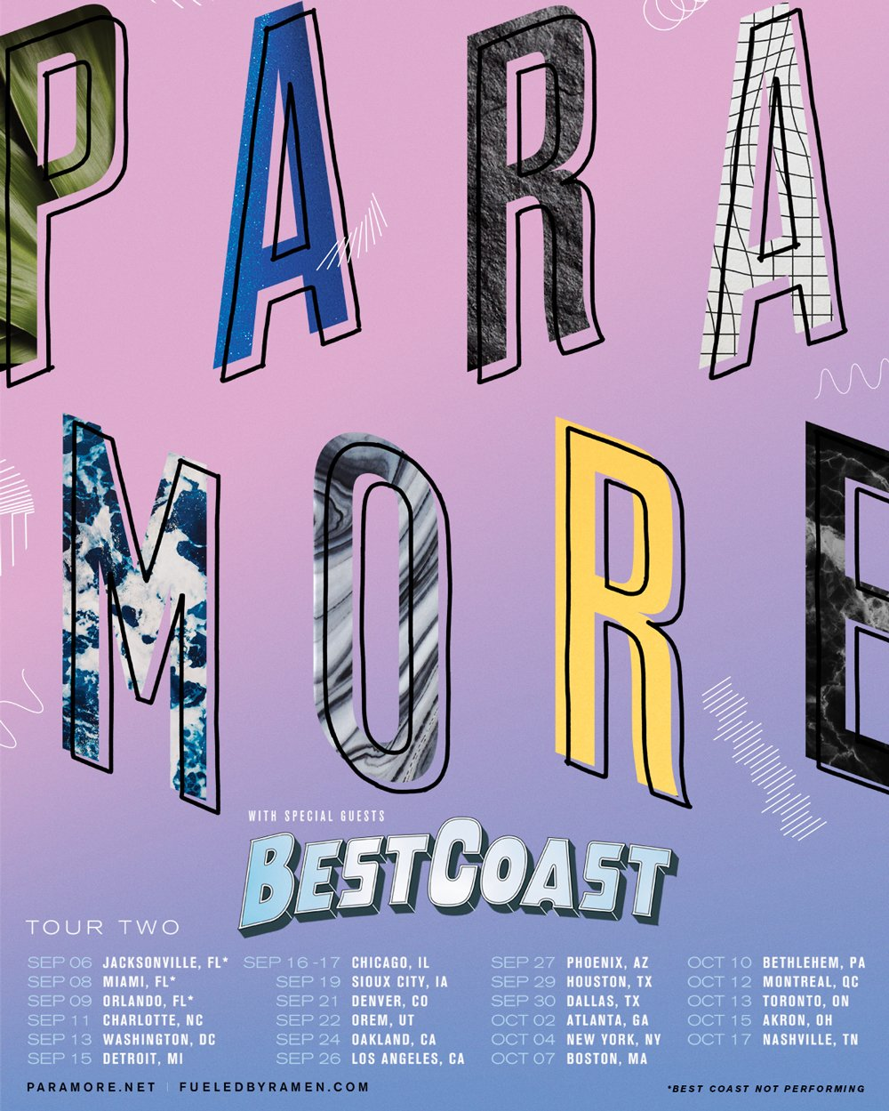 Paramore have announced 'Tour Two', with Best Coast along for the ride