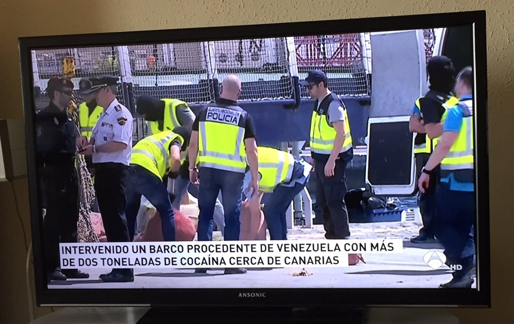 Police seized a boat from Venezuela with some 2.5 tons of cocaine near the Canary islands, Spain