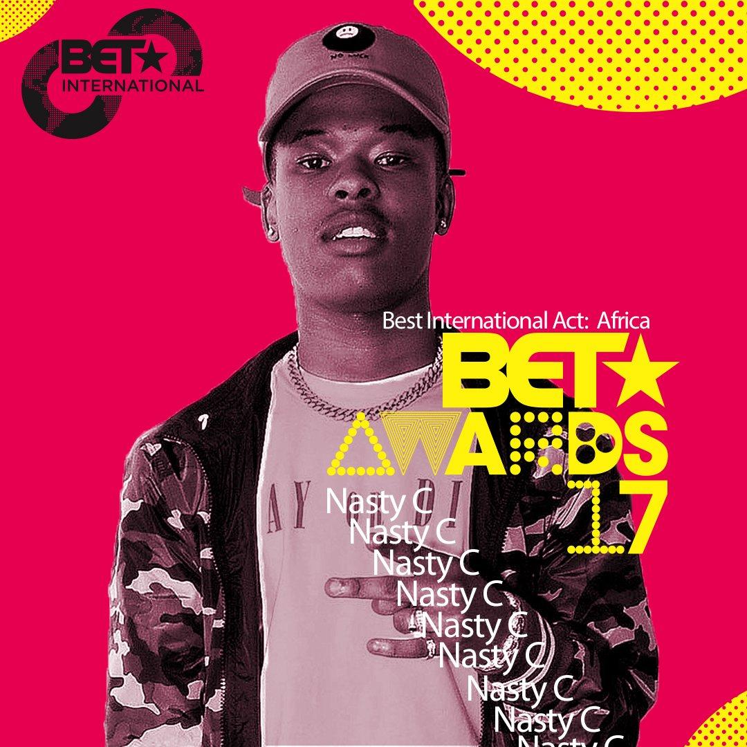 .@Nasty_CSA #BestIntlActAfrica Nominee #BETAwards 2017! https://t.co/9Jsbtke3o4