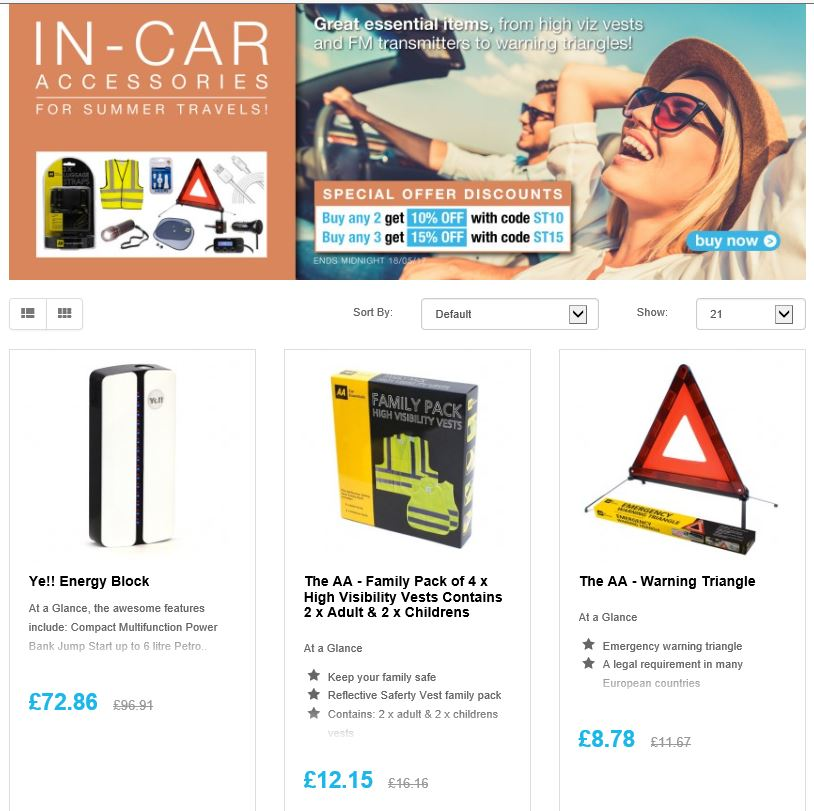 Save on Summer Motoring  in-car accessories  http:// ow.ly/aVbY30bIZ3gRT  &nbsp;   #Follow #Win Save Share  @TRDeals #Multibuy any 2/3 Extra 10/15% off <br>http://pic.twitter.com/cEHWCL12RY