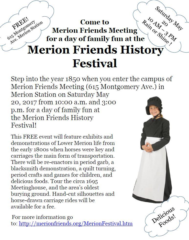 Merion Friends History Festival @ Merion Friends Meeting House | Merion Station | Pennsylvania | United States