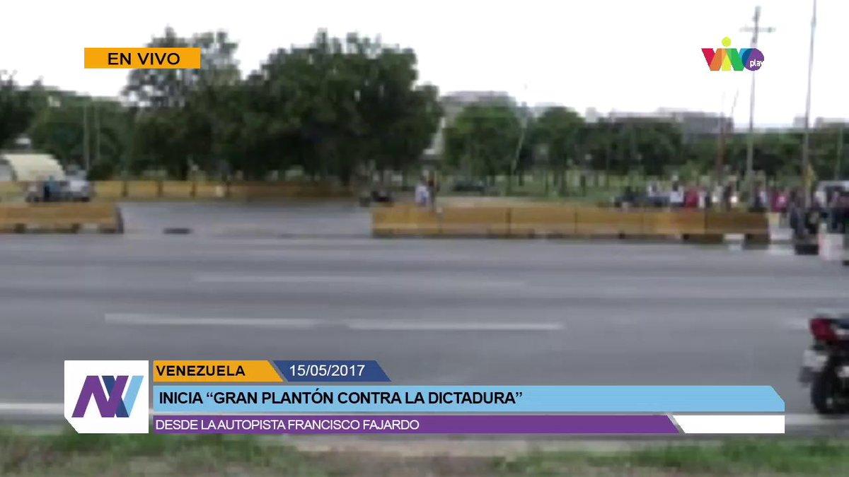 Grand Sit-in starts at  Francisco Fajardo highway in Caracas