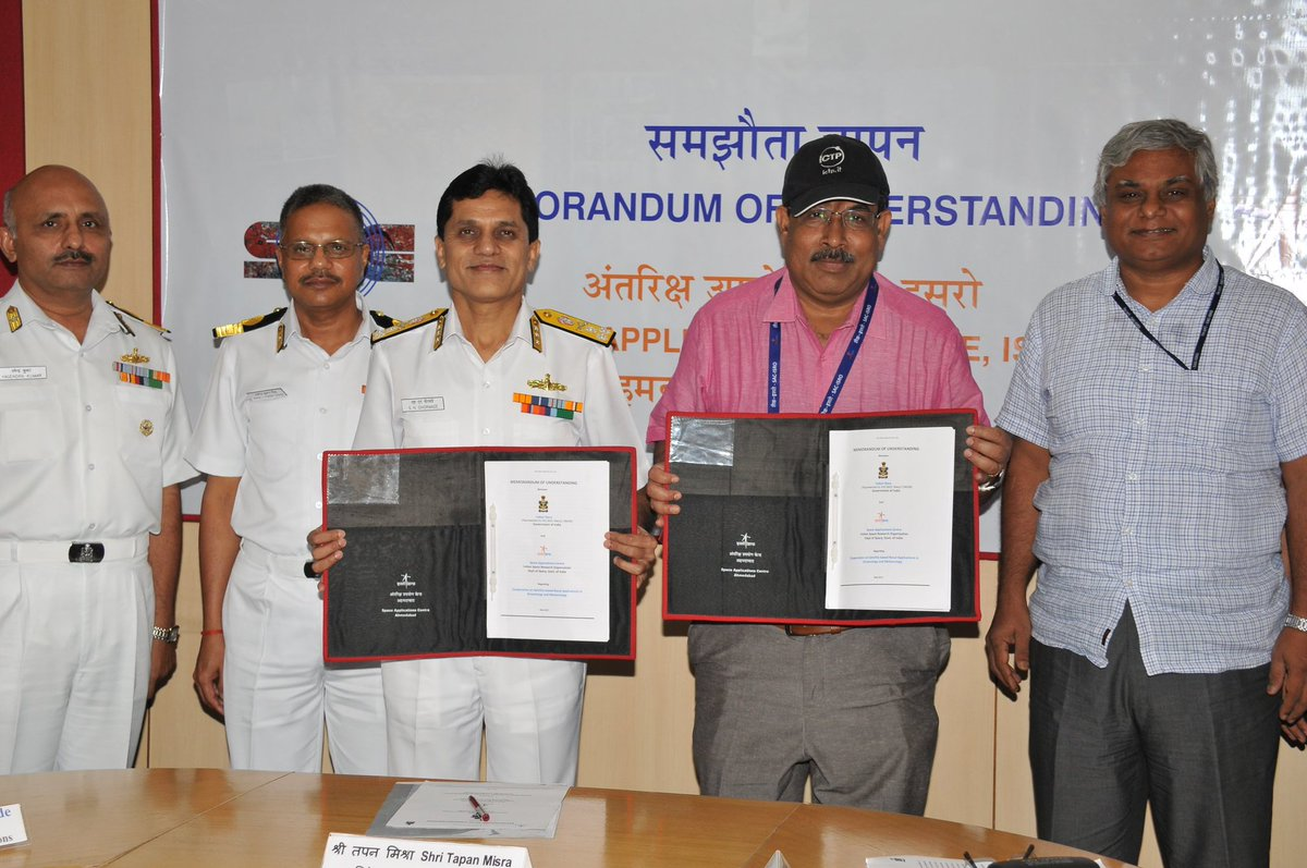 SAC Ahmedabad and Indian Navy sign MoU