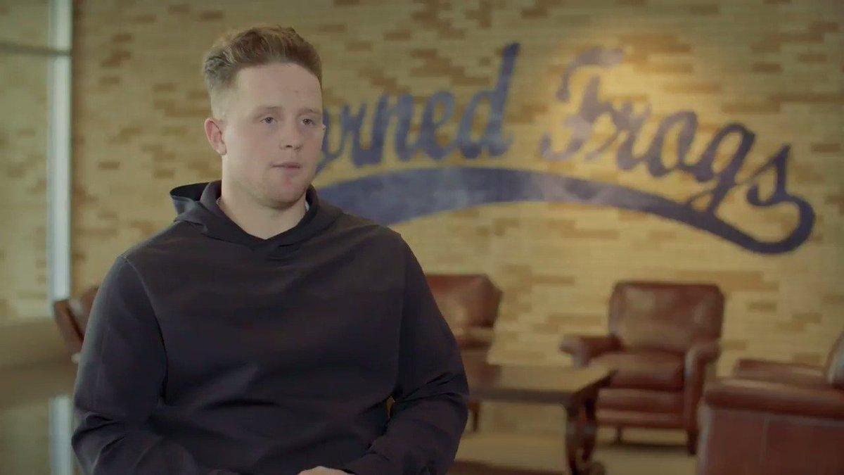 'I promised my parents that I'd get a degree.' - Evan Skoug, @TCU_Base...
