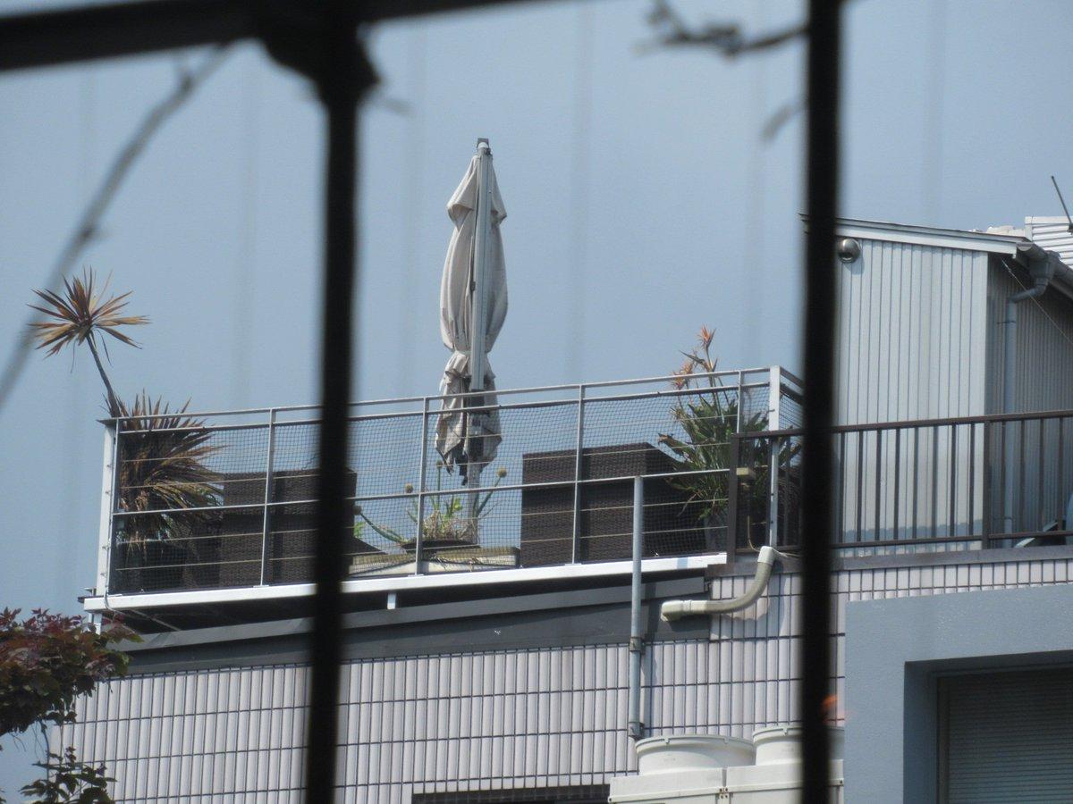 窓から見える病院の屋上にあるパラソルが、イカに見えてしかたありませんでしたww https://t.co/0C8wBkdAoY