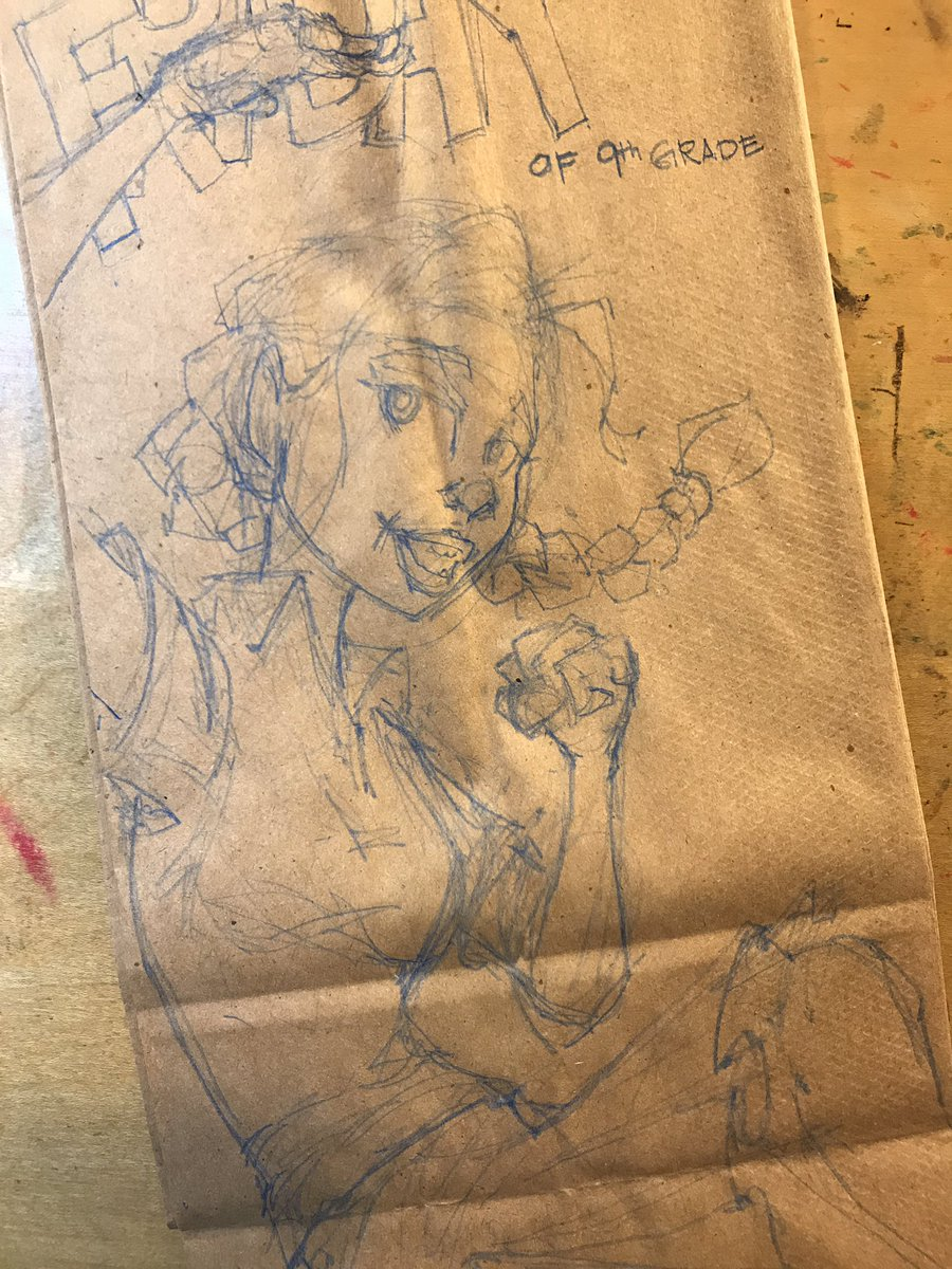 Getting the pencil lines down for the last #lunchbagart of this year #sketch #drawing #illustration #doodlebags #nashville #art<br>http://pic.twitter.com/wbF0Y0SFTI