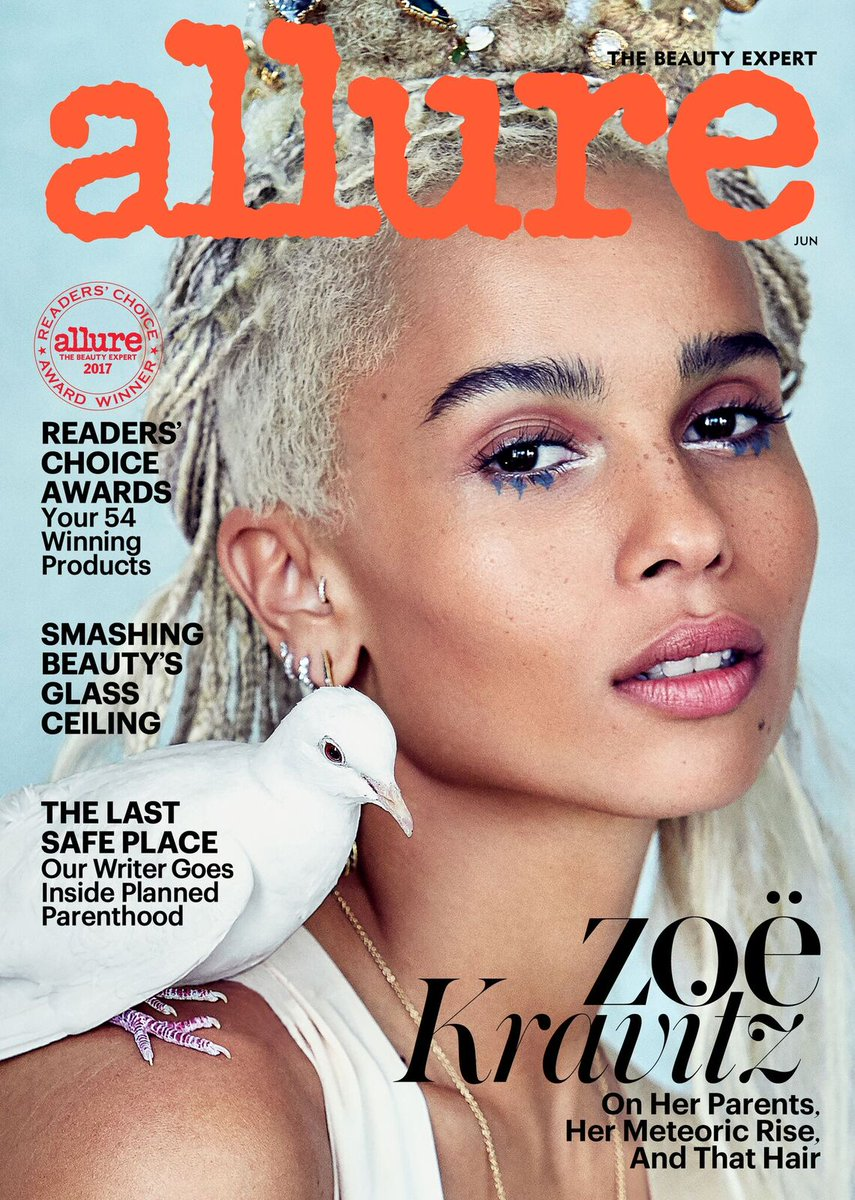 .@ZoeKravitz is our June cover star!! Read her full interview here: http://in.allure.com/W1tVPR4