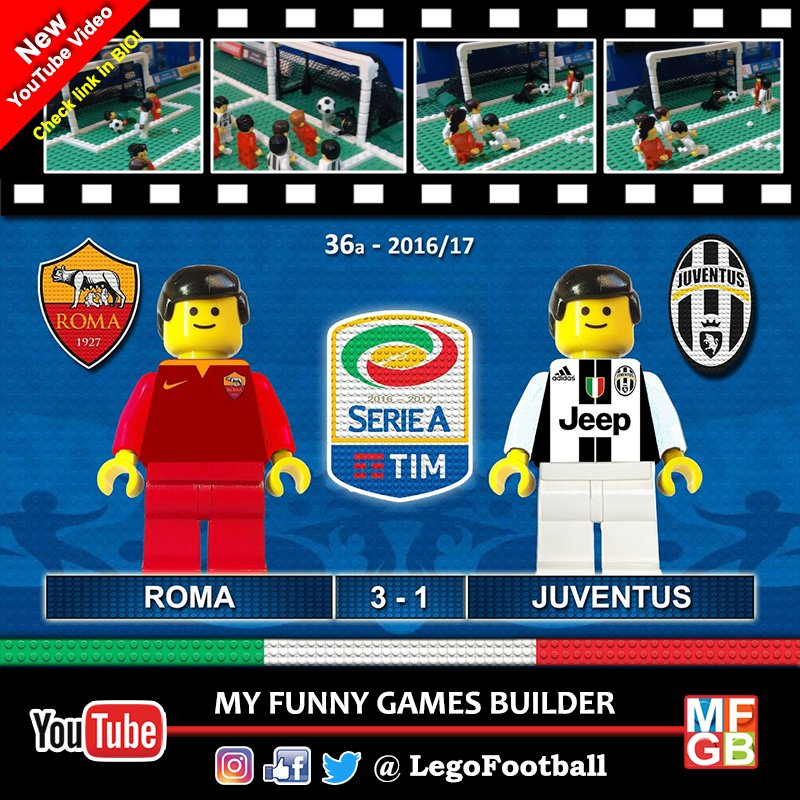Brick Film #RomaJuventus 3-1 #SerieA , All goals #ASRoma &amp; #Juventus , #Lemina #DeRossi #ElShaarawy #Nainggolan ... youtube video !!<br>http://pic.twitter.com/gOQ1Vq0Nps