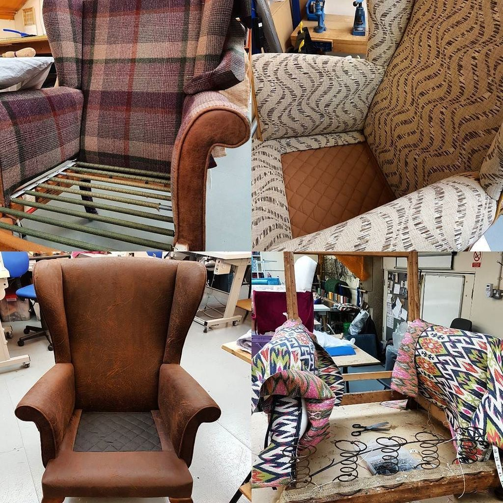 Lots of activity in the #workshop today, #variety of #styles, #techniques and #fabric being used on these #furnitu…  http:// ift.tt/2rhEIjh     pic.twitter.com/rtDmk1rHGU