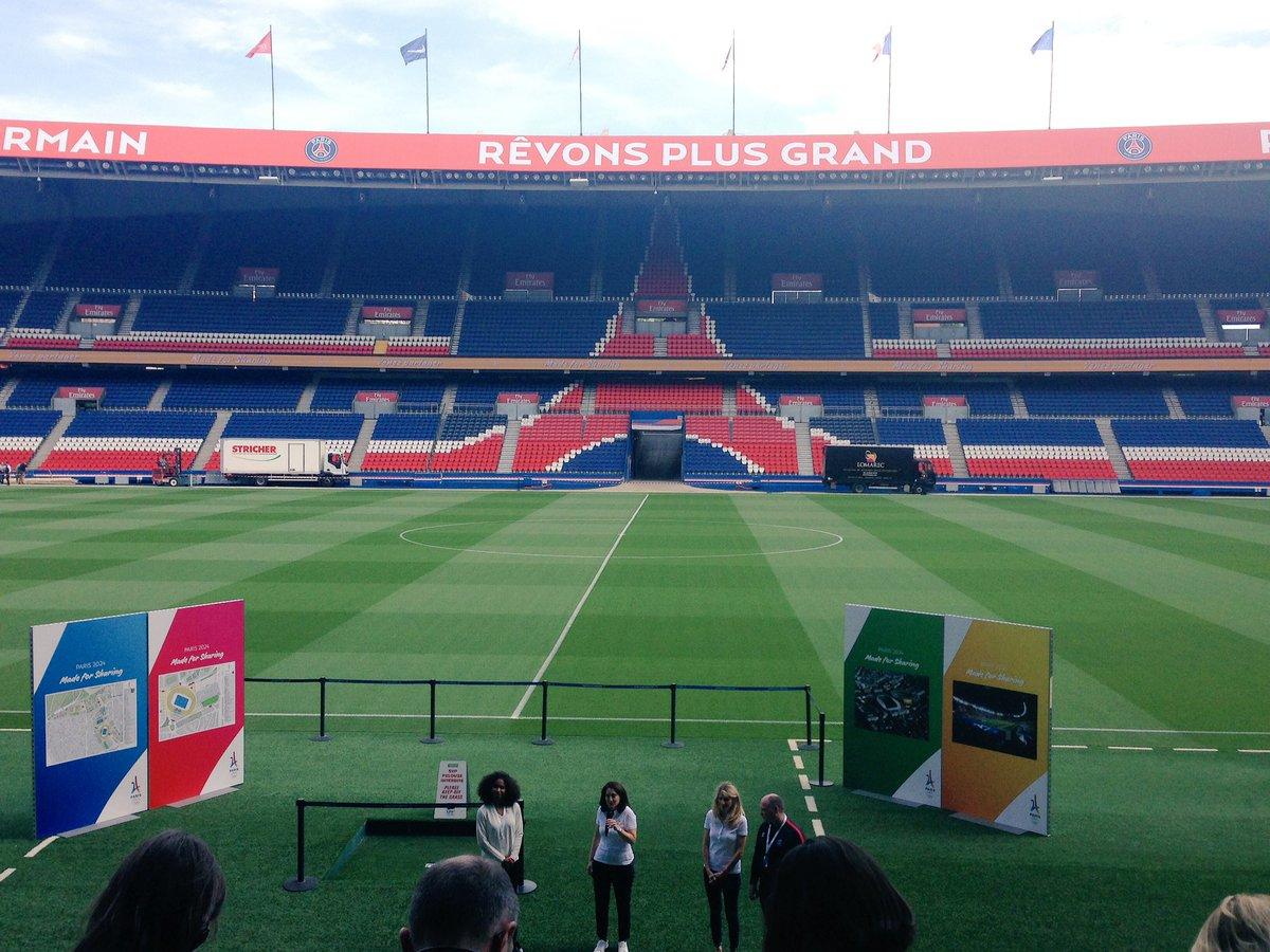 5th stop: #parcdesprinces home of @PSG_inside w/ #laurageorge #Paris2024 @FRANCE24<br>http://pic.twitter.com/lg1t5DCDHC