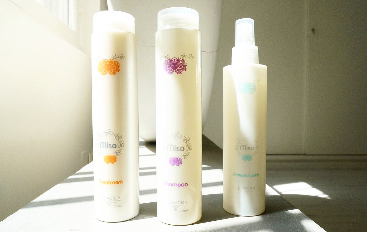 Miso Shampoo + Miso treatment + Miso protective Juice.  #cosmetic #beauté #beautiful #haircare #hairstyle #shampoo #cheveux #soin #treatment<br>http://pic.twitter.com/r3t2SRPm4H
