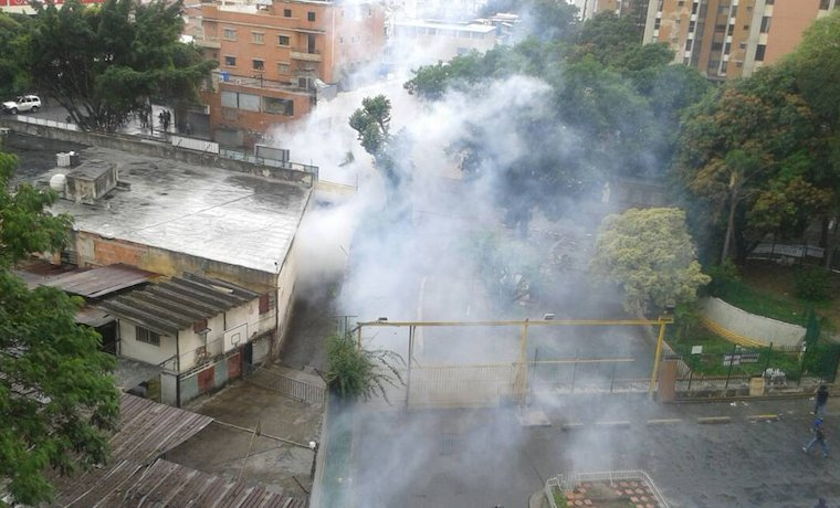 Protest in El Paraiso was dispersed with tear gas