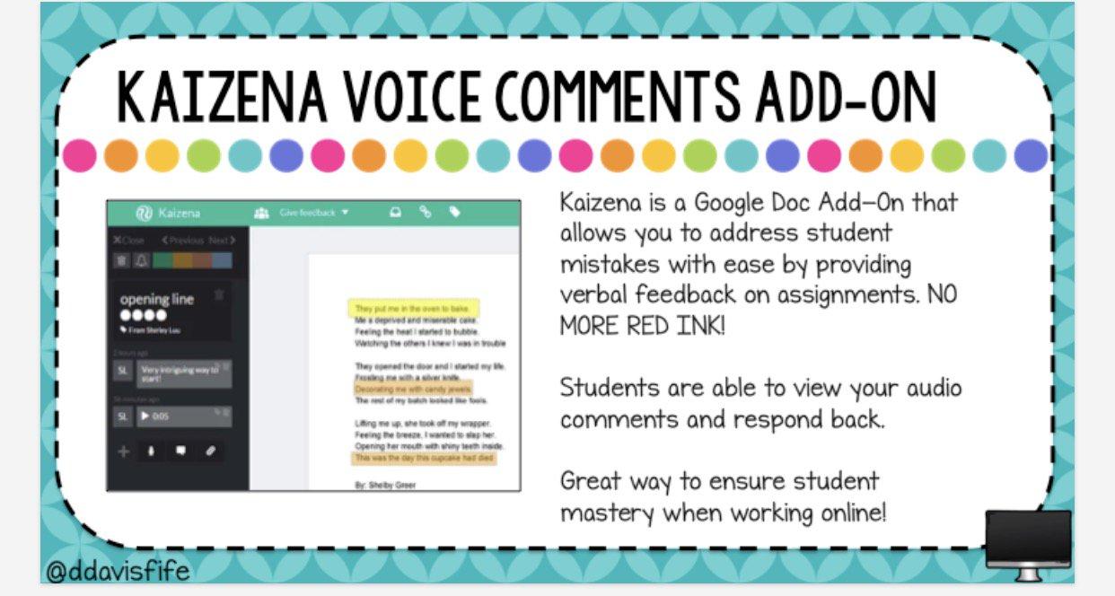 Give feedback with your voice instead of red ink. You can share so much more and quicker.  #R10tech @ddavisfife #gafe gdocs add on https://t.co/wqt1W8UXLR