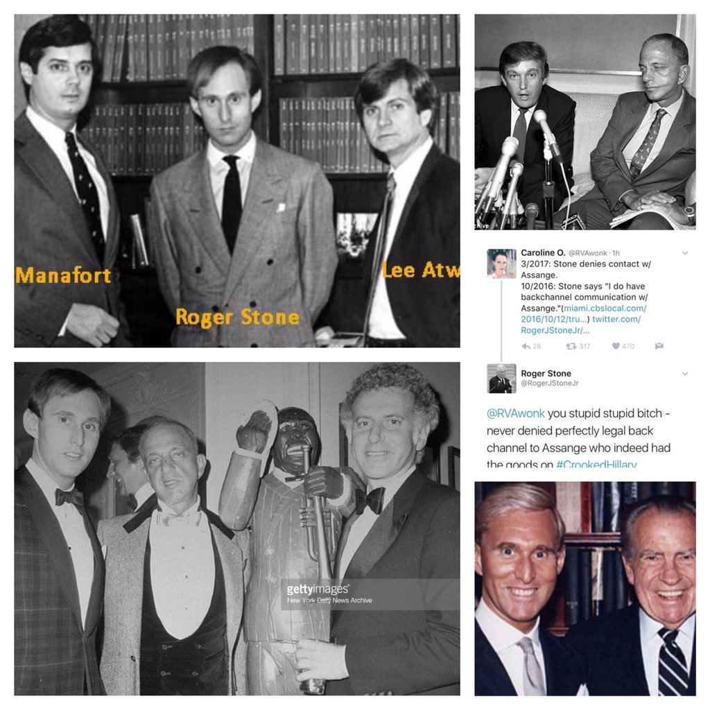 Image result for photos of manafort roger stone trump