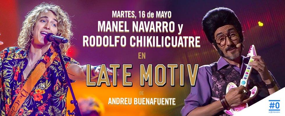 """Breaking news: Mañana en @LateMotivCero """"pelea de gallos"""" con Manel Navarro y Rodolfo Chikilicuatre. ¡El robocop! https://t.co/KBArtI2ntC"""
