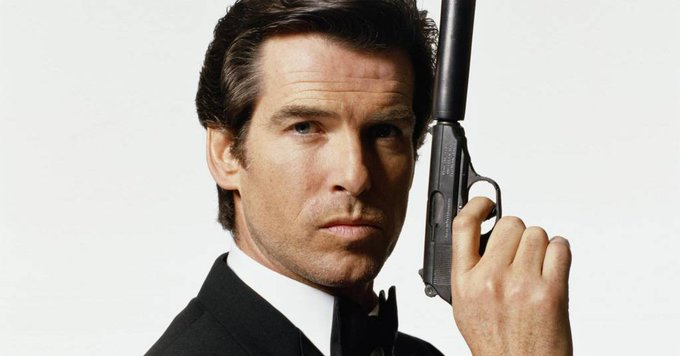 Happy 64th birthday to Pierce Brosnan, No. 5 who came in with a bang in GOLDENEYE.