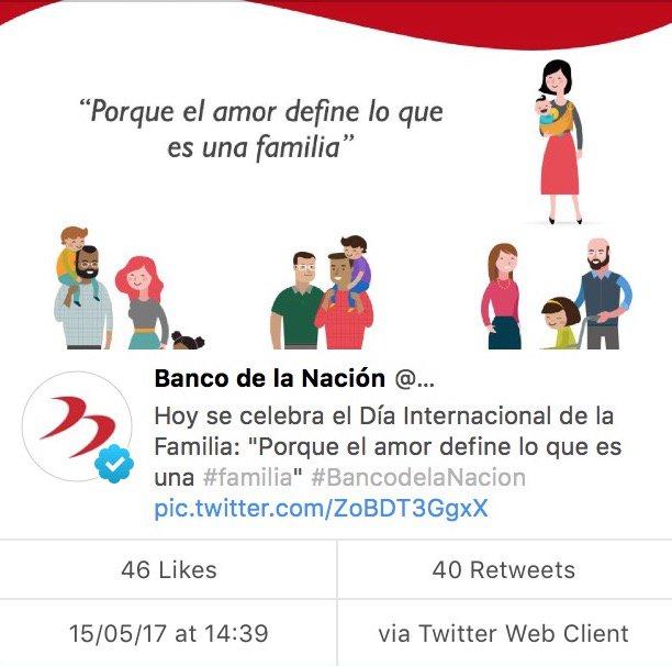 Ver imagen en Twitter  Banco de la Nación elimina post sobre familia gay y todos se preguntan por qué C 53WEuUMAAoJ8X