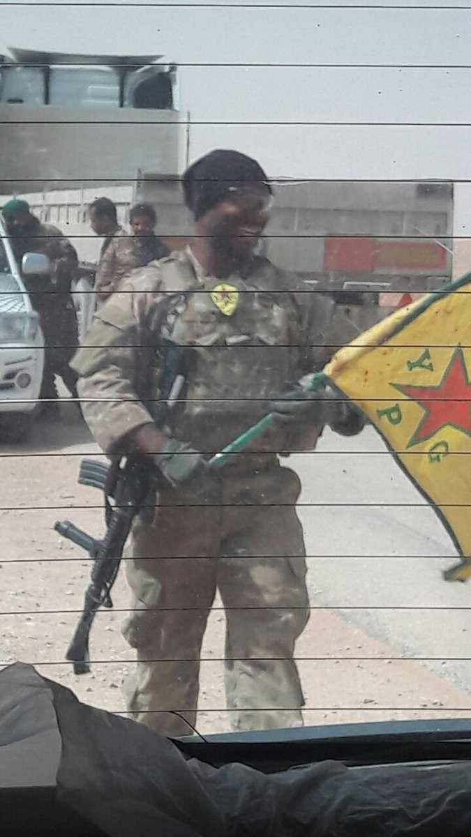 Syrian Civil War Map on Twitter US Soldier with YPG patch and