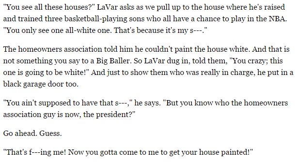 LaVar Ball telling his homeowners association to fuck off makes me like him just a little bit more. https://t.co/4FPxezwdKR