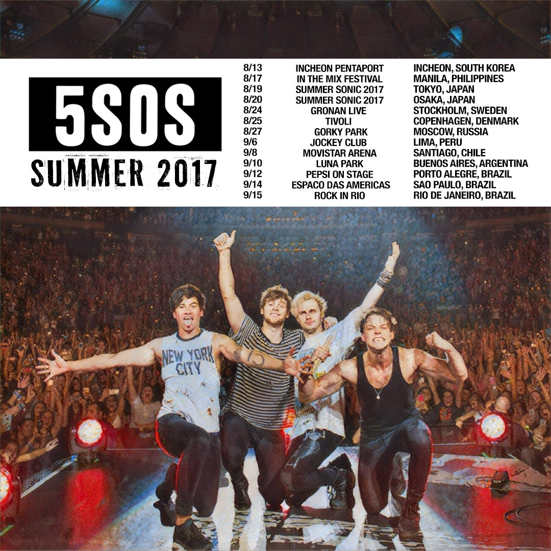 Seconds Of Summer Tour