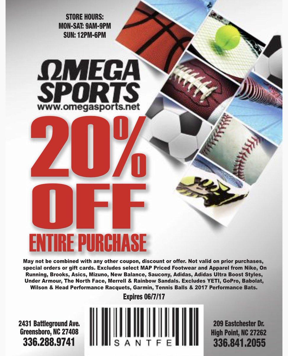 omega sports greensboro coupons